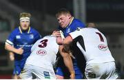 6 January 2018; Tadhg Furlong of Leinster is tackled by Rodney Ah You, left, and Callum Black of Ulster during the Guinness PRO14 Round 13 match between Leinster and Ulster at the RDS Arena in Dublin. Photo by Ramsey Cardy/Sportsfile