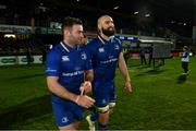6 January 2018; Fergus McFadden, left, and Scott Fardy of Leinster following the Guinness PRO14 Round 13 match between Leinster and Ulster at the RDS Arena in Dublin. Photo by Ramsey Cardy/Sportsfile