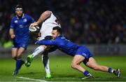 6 January 2018; Jean Deysel of Ulster is tackled by Jamison Gibson-Park of Leinster during the Guinness PRO14 Round 13 match between Leinster and Ulster at the RDS Arena in Dublin. Photo by Ramsey Cardy/Sportsfile