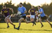 7 January 2018; Graham Hannigan of Dublin in action against Tiernan Rossiter of Wexford during the Bord na Mona O'Byrne Cup Group 1 Third Round match between Wexford and Dublin at St. Patricks Park in Wexford. Photo by Matt Browne/Sportsfile