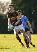 7 January 2018; Nick Doyle of Wexford in action during the Bord na Mona O'Byrne Cup Group 1 Third Round match between Wexford and Dublin at St. Patricks Park in Wexford. Photo by Matt Browne/Sportsfile