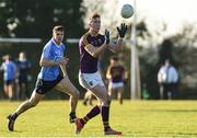 7 January 2018; Nick Doyle of Wexford in action against Emmet O'Canghaile of Dublin during the Bord na Mona O'Byrne Cup Group 1 Third Round match between Wexford and Dublin at St. Patricks Park in Wexford. Photo by Matt Browne/Sportsfile