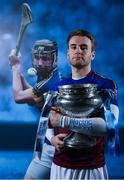 9 January 2018; UL and Tipperary hurler John McGrath teamed up with Electric Ireland today to launch its First Class Rivals campaign in support of Electric Ireland's sponsorship of the Higher Education Championships. The campaign celebrates the unique trait of these historic GAA competitions that sees team composition, unlike in club and county Championships, determined by place of learning not place of birth allowing traditional rivals to form the most unexpected of alliances. Photo by Ramsey Cardy/Sportsfile
