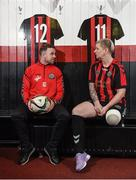 9 January 2018; Keith Ward and Amanda King of Bohemian FC in attendance during the launch of the new Bohemian FC Amputee Team at Dalymount Park in Dublin. Photo by Eóin Noonan/Sportsfile