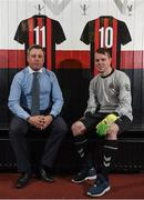 9 January 2018; Bohemian FC first team manager Keith Long and James Conroy of Bohemian FC in attendance during the launch of the new Bohemian FC Amputee Team at Dalymount Park in Dublin. Photo by Eóin Noonan/Sportsfile