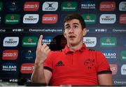 9 January 2018; Ian Keatley during a Munster Rugby press conference at the University of Limerick in Limerick. Photo by Diarmuid Greene/Sportsfile