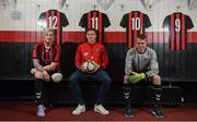 9 January 2018; Amanda King, Rob Cornwall and James Conroy of Bohemian FC in attendance during the launch of the new Bohemian FC Amputee Team at Dalymount Park in Dublin. Photo by Eóin Noonan/Sportsfile