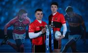 9 January 2018; UCC Footballers, Sean Powter, left, also of Cork and Jack Kennedy, also of Tipperary teamed up with Electric Ireland today to launch its First Class Rivals campaign in support of Electric Ireland's sponsorship of the Higher Education Championships. The campaign celebrates the unique trait of these historic GAA competitions that sees team composition, unlike in club and county Championships, determined by place of learning not place of birth allowing traditional rivals to form the most unexpected of alliances. Photo by Ramsey Cardy/Sportsfile