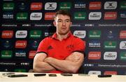 9 January 2018; Peter O'Mahony during a Munster Rugby press conference at the University of Limerick in Limerick. Photo by Diarmuid Greene/Sportsfile