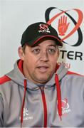 9 January 2018; Ulster head coach Jono Gibbes during an Ulster Rugby press conference at Kingspan Stadium in Belfast. Photo by Oliver McVeigh/Sportsfile