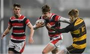 10 January 2018; Luke Fitzpatrick of Wesley College in action against Rory Gordon of St Patrick's Classical School Navan during the Bank of Ireland Leinster Schools Vinnie Murray Cup Round 1 match between St Patrick's Classical School Navan and Wesley College at Donnybrook Stadium in Dublin. Photo by Eóin Noonan/Sportsfile