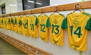 10 January 2018; A general view of the Donegal team changing room before the Bank of Ireland Dr. McKenna Cup Section C Round 3 match between Donegal and Fermanagh at Páirc MacCumhaill in Ballybofey, Donegal. Photo by Oliver McVeigh/Sportsfile