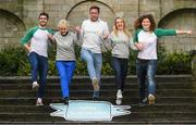 11 January 2018; All Ireland medal winners Bernard Brogan and Michael Fennelly were joined by other international sports athletes in Jenny Murphy, AiIís McSweeney and Rosemary Smith at the launch of Peptalk's All Ireland Games, an intercompany wellbeing challenge that allows companies all over Ireland compete against each other. To get your company signed up check out http://www.peptalk.ie/all-ireland-games. The launch took place at Merrion Square Park in Dublin. In attendance at the launch, are, from left, Bernard Brogan, Rosemary Smith, Michael Fennelly, AiIís McSweeney and Jenny Murphy.Photo by Sam Barnes/Sportsfile