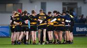 10 January 2018; St Patrick's Classical School Navan huddle ahead of the Bank of Ireland Leinster Schools Vinnie Murray Cup Round 1 match between St Patrick's Classical School Navan and Wesley College at Donnybrook Stadium in Dublin. Photo by Eóin Noonan/Sportsfile