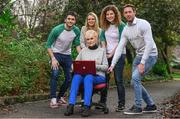 11 January 2018; All Ireland medal winners Bernard Brogan and Michael Fennelly were joined by other international sports athletes in Jenny Murphy, AiIís McSweeney and Rosemary Smith at the launch of Peptalk's All Ireland Games, an intercompany wellbeing challenge that allows companies all over Ireland compete against each other. To get your company signed up check out http://www.peptalk.ie/all-ireland-games. The launch took place at Merrion Square Park in Dublin. In attendance at the launch are, from left, Bernard Brogan, AiIís McSweeney, Rosemary Smith, Jenny Murphy and Michael Fennelly. Photo by Sam Barnes/Sportsfile