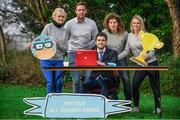 11 January 2018; All Ireland medal winners Bernard Brogan and Michael Fennelly were joined by other international sports athletes in Jenny Murphy, Ailís McSweeney and Rosemary Smith at the launch of Peptalk's All Ireland Games, an intercompany wellbeing challenge that allows companies all over Ireland compete against each other. To get your company signed up check out http://www.peptalk.ie/all-ireland-games. The launch took place at Merrion Square Park in Dublin. In attendance at the launch are, from left, Rosemary Smith, Michael Fennelly, Bernard Brogan,Jenny Murphy and Ailís McSweeney. Photo by Sam Barnes/Sportsfile