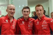 11 January 2018; Members of team Citroën, from left, Paul Nagle with Craig Breen and Kris Meeke in attendance during the Launch of the 2018 WRC rally championship at the Autosport show in NEC Birmingham in United Kingdom. Photo by Philip Fitzpatrick/Sportsfile