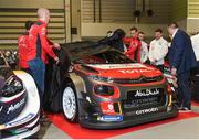 11 January 2018; Members of team Citroën, Paul Nagle, Craig Breen and Kris Meeke unveil the 2018 Citroën World Rally Car during the Launch of the 2018 WRC rally championship at the Autosport show in NEC Birmingham, United Kingdom. Photo by Philip Fitzpatrick/Sportsfile