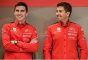 11 January 2018; Craig Breen WRC driver for Citroën along with his co-driver Scott Martin on stage during the Launch of the 2018 WRC rally championship at the Autosport show in NEC Birmingham, United Kingdom. Photo by Philip Fitzpatrick/Sportsfile