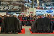 11 January 2018; Rally supporters and members of the press await the launch of the 2018 WRC rally championship at the Autosport show in NEC Birmingham, United Kingdom. Photo by Philip Fitzpatrick/Sportsfile