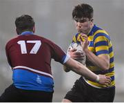11 January 2018; Joe Mulvany of Skerries Community College in action against Ciaran Purcell of Salesian College during the Bank of Ireland Leinster Schools Vinnie Murray Cup Round 1 match between Salesian College and Skerries Community College at Donnybrook Stadium in Dublin. Photo by Matt Browne/Sportsfile