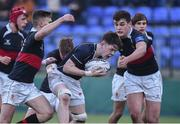 11 January 2018; Paudie Kellegher of Mount Temple in action against The High School during the Bank of Ireland Leinster Schools Vinnie Murray Cup Round 1 match between The High School and Mount Temple at Donnybrook Stadium in Dublin. Photo by Matt Browne/Sportsfile