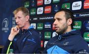 12 January 2018; Leinster team captain Isa Nacewa, right, with head coach Leo Cullen during a Leinster Rugby squad press conference at Leinster Rugby Headquarters in Dublin. Photo by Matt Browne/Sportsfile