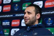 12 January 2018; Leinster team captain Isa Nacewa during a Leinster Rugby squad press conference at Leinster Rugby Headquarters in Dublin. Photo by Matt Browne/Sportsfile