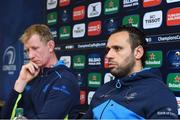 12 January 2018; Leinster team captain Isa Nacewa with head coach Leo Cullen during a Leinster Rugby squad press conference at Leinster Rugby Headquarters in Dublin. Photo by Matt Browne/Sportsfile