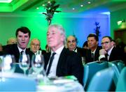 12 January 2018; Republic of Ireland manager Martin O'Neill, right, and assistant manager Roy Keane, left, during the SSE Airtricity / Soccer Writers Association of Ireland Awards 2017 at The Conrad Hotel in Dublin. Photo by Stephen McCarthy/Sportsfile