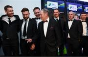 12 January 2018; Manager Brian Kerr with members of his U16 & U18 1998 European Championship winning squad during the SSE Airtricity / Soccer Writers Association of Ireland Awards 2017 at The Conrad Hotel in Dublin. Photo by Stephen McCarthy/Sportsfile
