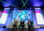 13 January 2018; Former Kilkenny senior hurler Tommy Walsh, left, Jason Sherlock, Dublin senior football coach, and Damien Lawlor, right, during day two of the GAA Games Development Conference at Croke Park in Dublin. Photo by Stephen McCarthy/Sportsfile