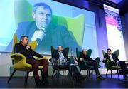 13 January 2018; Speakers, from left, Kerry minor football manager Peter Keane, Former Armagh senior footballer Stephen McDonnell, Tyrone U21 football coach Peter Canavan and Damien Lawlor during day two of the GAA Games Development Conference at Croke Park in Dublin. Photo by Stephen McCarthy/Sportsfile