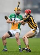 13 January 2018; Shane Kinsella of Offaly in action against Cillian Buckley of Kilkenny during the Bord na Mona Walsh Cup semi-final match between Offaly and Kilkenny at Bord na Mona O'Connor Park in Offaly. Photo by Sam Barnes/Sportsfile