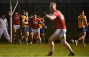 13 January 2018; John O'Rourke of Cork celebrates after team-mate Stephen Sherlock scored the match-winning goal in injury time during the McGrath Cup Final between Cork and Clare at Mallow GAA Complex in Mallow, Co. Cork. Photo by Diarmuid Greene/Sportsfile