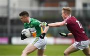 14 January 2018; Nigel Dunne of Offaly in action against Killian Daly of Westmeath during the Bord na Mona O'Byrne Cup semi-final match between Westmeath and Offaly at Cusack Park, in Mullingar, Westmeath. Photo by Sam Barnes/Sportsfile