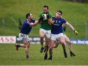 14 January 2018; Séamus Lavin of Meath in action against Peter Foy, left, and Andrew Farrell of Longford during the Bord na Mona O'Byrne Cup semi-final match between Meath and Longford at Páirc Táilteann in Navan, Meath. Photo by Seb Daly/Sportsfile