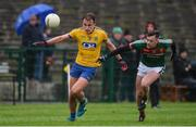 14 January 2018; Enda Smith of Roscommon in action against Diarmuid O'Connor of Mayo during the Connacht FBD League Round 4 match between Roscommon and Mayo at Dr Hyde Park in Roscommon. Photo by Piaras Ó Mídheach/Sportsfile