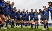 14 January 2018; The Leinster team huddle following the European Rugby Champions Cup Pool 3 Round 5 match between Leinster and Glasgow Warriors at the RDS Arena in Dublin. Photo by Ramsey Cardy/Sportsfile