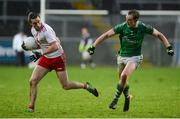 14 January 2018; Conal McCann of Tyrone in action against Che Cullen of Fermanagh during the Bank of Ireland Dr. McKenna Cup semi-final match between Fermanagh and Tyrone at Brewster Park in Enniskillen, Fermanagh. Photo by Oliver McVeigh/Sportsfile