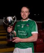 14 January 2018; Limerick captain Paul Browne with the cup after the Co-Op Superstores Munster Senior Hurling League Final between Limerick and Clare at Gaelic Grounds in Limerick. Photo by Diarmuid Greene/Sportsfile