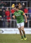 14 January 2018; Cillian O'Sullivan of Meath reacts after converting his freekick in the shootout during the Bord na Mona O'Byrne Cup semi-final match between Meath and Longford at Páirc Táilteann in Navan, Meath. Photo by Seb Daly/Sportsfile