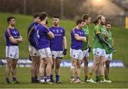 14 January 2018; Players from both teams stand on the halfway line during the freekick shootout at the end of the Bord na Mona O'Byrne Cup semi-final match between Meath and Longford at Páirc Táilteann in Navan, Meath. Photo by Seb Daly/Sportsfile
