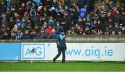 14 January 2018; Dublin manager Pat Gilroy patrols the sideline during the Bord na Mona Walsh Cup semi-final match between Dublin and Wexford at Parnell Park in Dublin. Photo by Daire Brennan/Sportsfile