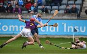 14 January 2018; Danny Sutcliffe of Dublin in action against Paudie Foley of Wexford during the Bord na Mona Walsh Cup semi-final match between Dublin and Wexford at Parnell Park in Dublin. Photo by Daire Brennan/Sportsfile