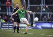 14 January 2018; Mark McCabe of Meath converts his freekick in the shootout during the Bord na Mona O'Byrne Cup semi-final match between Meath and Longford at Páirc Táilteann in Navan, Meath. Photo by Seb Daly/Sportsfile