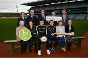 15 January 2018; An independent evaluation by Waterford IT has revealed that the GAA Healthy Club Project (HCP) is already showing significant and lasting improvements to the health of communities across Ireland. Stemming from this, the Healthy Club Project is calling on further clubs to make the GAA a healthier place for everyone to enjoy, by signing up to this transformative initiative. Clubs can apply to participate in the Healthy Club Project by completing the online form on www.gaa.ie/community The closing date is Monday, January 29th. Pictured at the launch are, back row, from left, Kate O'Flaherty, Head of Health and Wellbeing in the Department of Health, Uachtarán Chumann Lúthchleas Gael Aogán Ó Fearghail, Simon Harris TD, Minister for Health, Irish life CEO, David Harney, Tony Murphy, Dept. for Communities, NI. Front row, from left, Catherine Byrne TD, Minister of State at the Department of Health with responsibility for Health Promotion and the National Drugs Strategy, Dublin ladies footballer Lyndsey Davey, Mayo football Diarmuid O'Connor, Waterford hurler Jamie Barron, Dr Aoife Lane, Head of Department of Sport and Health Science at AIT, and Liz Redmond, Population Health Director, Dept of Health, NI, at Croke Park in Dublin. Photo by Piaras Ó Mídheach/Sportsfile