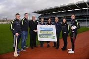 15 January 2018; An independent evaluation by Waterford IT has revealed that the GAA Healthy Club Project (HCP) is already showing significant and lasting improvements to the health of communities across Ireland. Stemming from this, the Healthy Club Project is calling on further clubs to make the GAA a healthier place for everyone to enjoy, by signing up to this transformative initiative. Clubs can apply to participate in the Healthy Club Project by completing the online form on www.gaa.ie/community The closing date is Monday, January 29th. Pictured at the launch are, from left, Waterford hurler Jamie Barron, James Carthy, Healthy Club Officer Aghamore GAA, Mayo, Uachtarán Chumann Lúthchleas Gael Aogán Ó Fearghail, Gwen Lanigan, Healthy Club Officer St. Colmcilles GAA, Meath, Janas Harrington, Healthy Club Officer, St. Finbarr's National Hurling and Football Club, Cork, Pat Kelly, St. Colmcilles GAA, Meath, Dublin ladies footballer Lyndsey Davey and Mayo footballer Diarmuid O'Connor at Croke Park in Dublin. Photo by Piaras Ó Mídheach/Sportsfile