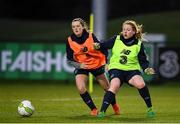 15 January 2018; Amber Barrett, right, and Tyler Toland during Republic of Ireland training at the FAI National Training Centre in Abbotstown, Dublin. Photo by Stephen McCarthy/Sportsfile