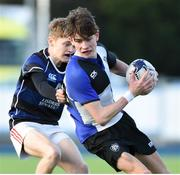 15 January 2018; Timmy Connolly of Dundalk Grammar School is tackled by Max Deane Wannagat of Mount Temple during the Community School Bank of Ireland Leinster Schools Fr. Godfrey Cup Round 1 match between Dundalk Grammar School and Mount Temple at Donnybrook Stadium in Dublin. Photo by Matt Browne/Sportsfile
